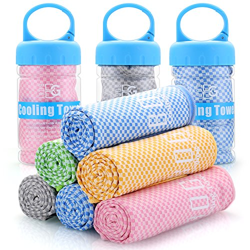 BOGI Cooling Towel For Instant Cooling-(100cm) x(30cm)–Like Cooling Scarf...