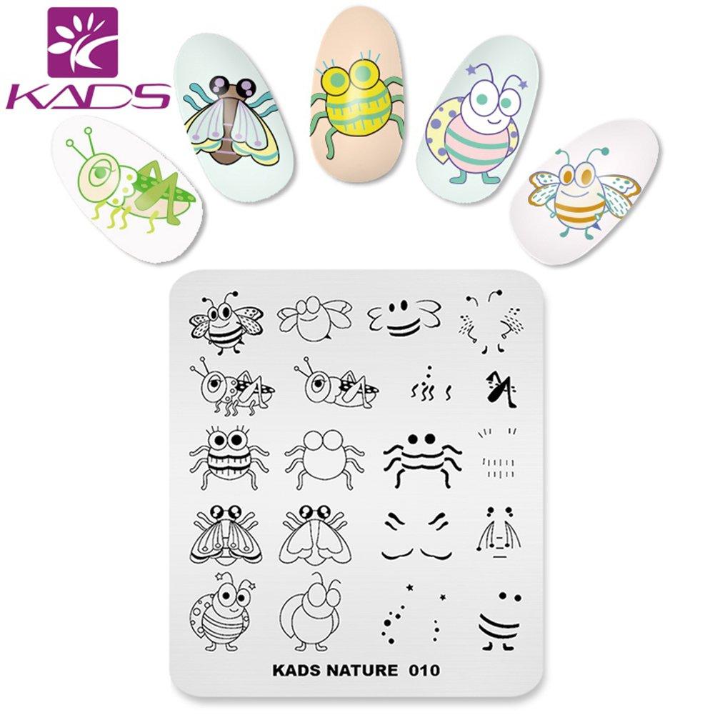 KADS Nature Nail Stamping Plate Template Image Design Plates for Nail Art Decoration and DIY Nail Art (NA010)