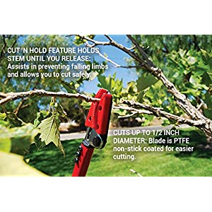 Corona Long Reach Cut 'n' Hold Pruner, 1/2 Inch Cut, LR 3460