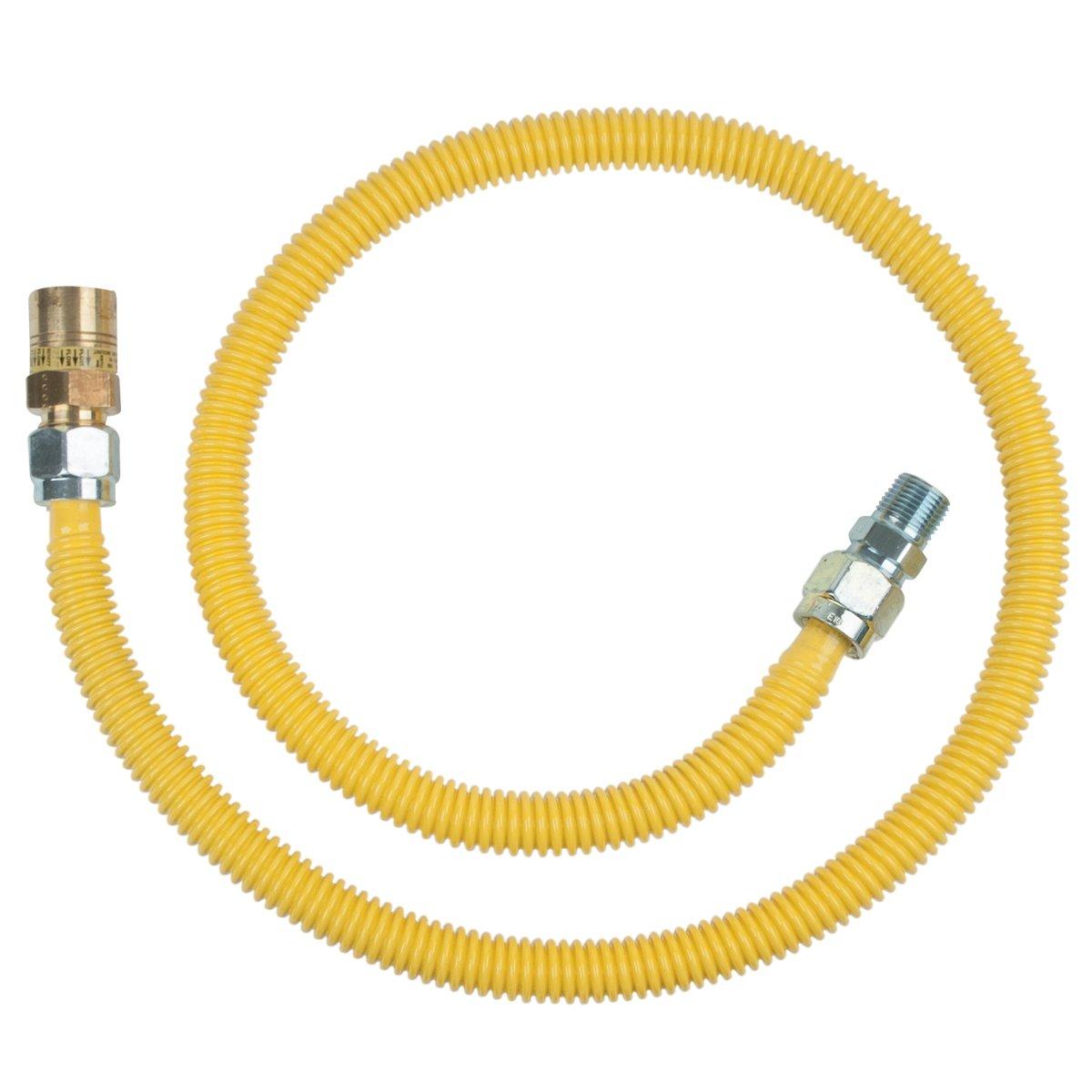 Brasscraft Cssc94R48 x Safety Plus Gas 5/8'' Od Connector With 5/8'' Female Flare Efv x 1/2'' Mip x 48'' by BrassCraft