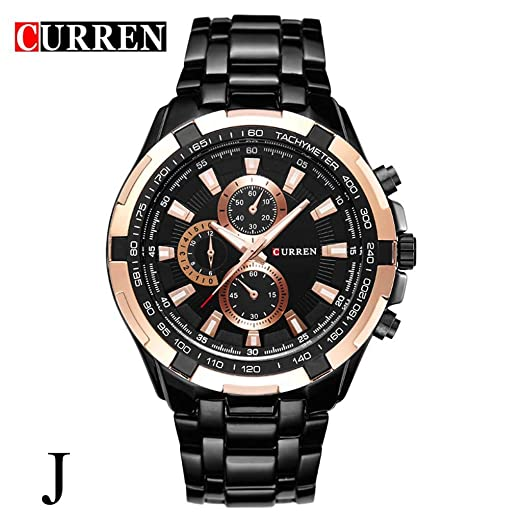 Amazon.com : XBKPLO Mens Quartz Watch, Sport Luxury Large Dial Calendar Analog Mechanical Wrist Watches Six Pin Steel Strap Fashion Jewelry Gift : Pet ...