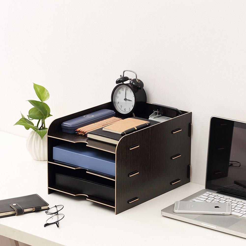YQQSTJP® Desktop Organizer, Dateiordner Organizer, Bürobedarf Bürobedarf Bürobedarf Große Kapazität A4 Dateiordner Halter Aufbewahrungsbox für Office School Home (blau) B07DG2V6G7 | Smart  522e83