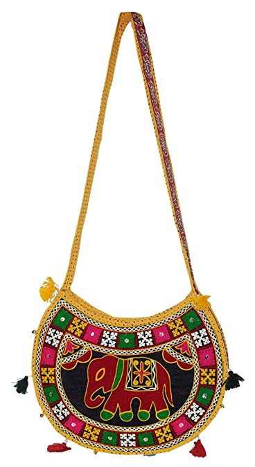 bc84137889b9 Groovy Rajasthani Designer Round Sling Bag(Design & Color May Slightly Vary  according to Availablity): Amazon.in: Shoes & Handbags