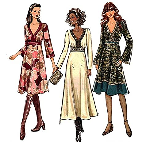 Amazon.com: Butterick Sewing Pattern B4849 Misses\' Dress Size: EE 14 ...