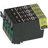 EPSON / エプソン 高品質 純正互換インクカートリッジ ICBK69L(ブラック/黒)4本セット 増量タイプ 残量表示機能付 保証1年 【ICチップ有】Barongオリジナル
