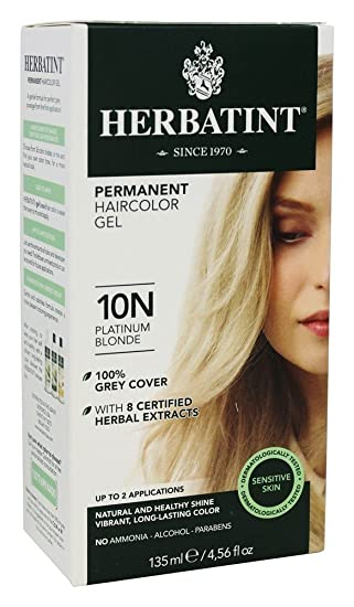 Amazon Com Herbatint Hair Color Platinum Blonde 10n 4 56 Fl Oz Beauty