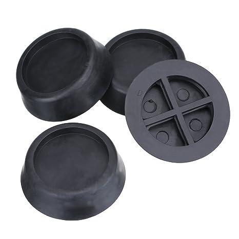 Outus 6.5 cm Almohadillas Anti Vibración Pies Antideslizante para Lavadoras y Secadores, Negro, 4