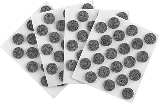 SoftTouch 4759695N Self-Stick Small Felt Pads Protect Your Hard Surfaces from Scratches, 84 Pieces, 3/8