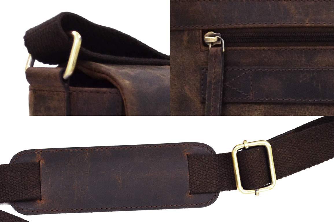 41x31x12cm TUSC Charon Braun Leder Tasche Vintage Laptoptasche bis 17 Zoll Herren Damen Unisex Umh/ängetasche Aktentasche Schultertasche f/ür B/üro Notebook Messenger Bag Laptop iPad