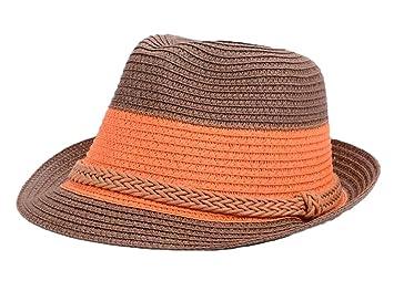 6bce432723395 East Majik Straw Beach Sun Fedora Homburg Hat  Amazon.co.uk  Sports ...