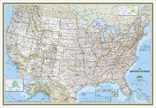 Buy united states decorator enlarged laminated wall maps us buy united states decorator enlarged laminated wall maps us national geographic reference map book online at low prices in india united states publicscrutiny Images