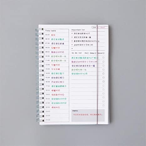 Planificador Espiral A5 Cuaderno Tiempo Memo Planificación ...