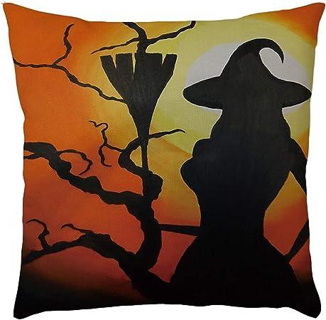 MAYOGO Fundas Cojines 45x45 Fundas para Cojines Estampado Funda de Cojin Pack para Sofa Decoracion Hogar Halloween Decoracion Pumpkin Horror: Amazon.es: Hogar