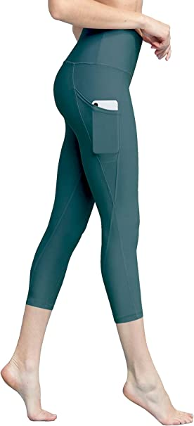 Lock and Love Womens Yoga Pants Tummy Compression Colorblock 7//8 Mesh Leggings with Pocket and Inner Pocket