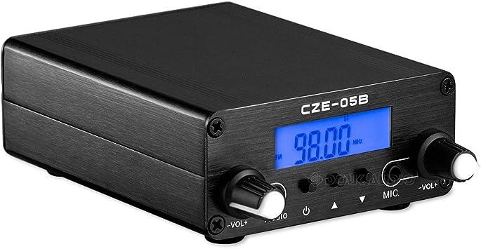 Transmisor FM de frecuencia estéreo de 0,1/0,5 W, para el hogar, Antena y transmisor de Audio