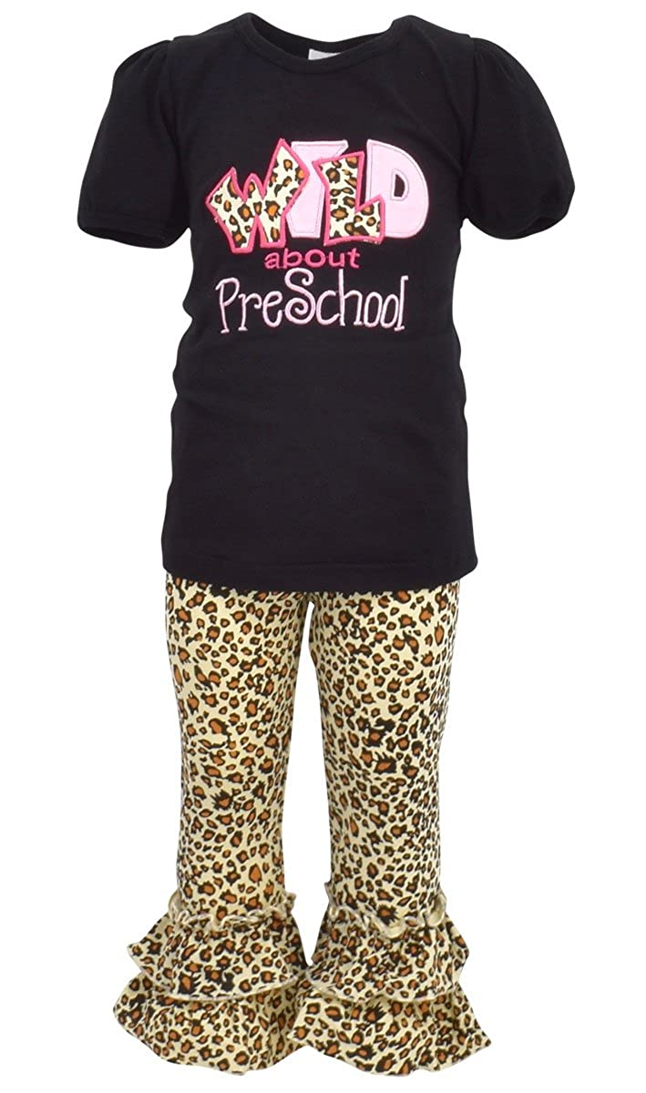 2186bba1430b WHAT KIDS LOVE [ANIMAL PRINT]: Style and comfort! Animal print capri pants  and a cute shirt will make this outfit your little girl\'s favorite!