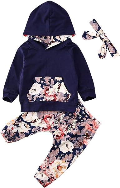 Waymine Infant Girl Sleeveless Floral Romper Bodysuit+Headband Set Baby Romper