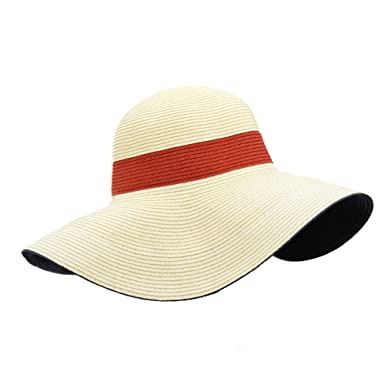 cf7d9611442 Image Unavailable. Image not available for. Colour  HatQuarters Boardwalk  Style Floppy Beach Hat ...