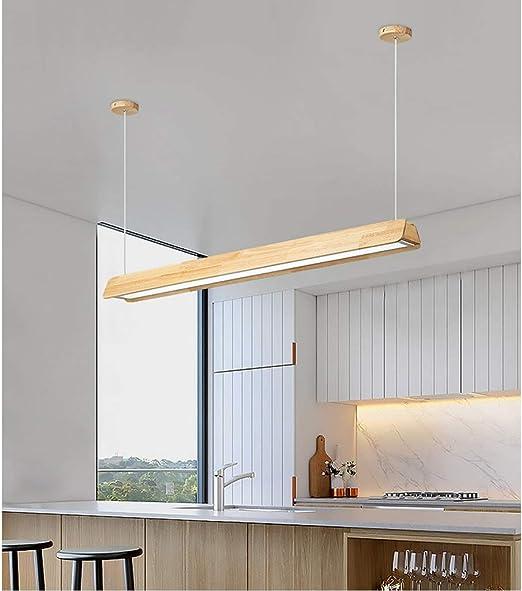 Pan&Pan Lámpara Colgante LED Hecha de Madera Lámpara Colgante Mesa de Comedor Lámpara Colgante Lámpara Colgante para Cocina/Sala de Estar/Oficina/cafetería/Sala de Estudio: Amazon.es: Hogar