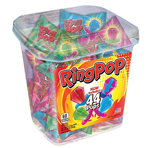 Ring Pop Candy Jar, Assorted Flavors (44 (Assorted Pop)