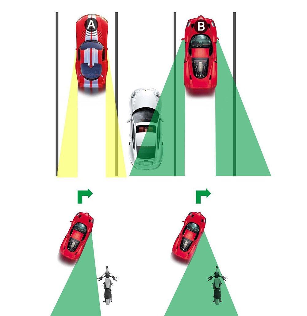 Upgrade konvex Weitwinkel 360/Grad drehbar verstellbar zum Aufkleben auf Au/ßenspiegel f/ür alle Autos vi-go 2 St/ück Motorr/äder. Trucks SUV Auto Toter-Winkel-Spiegel