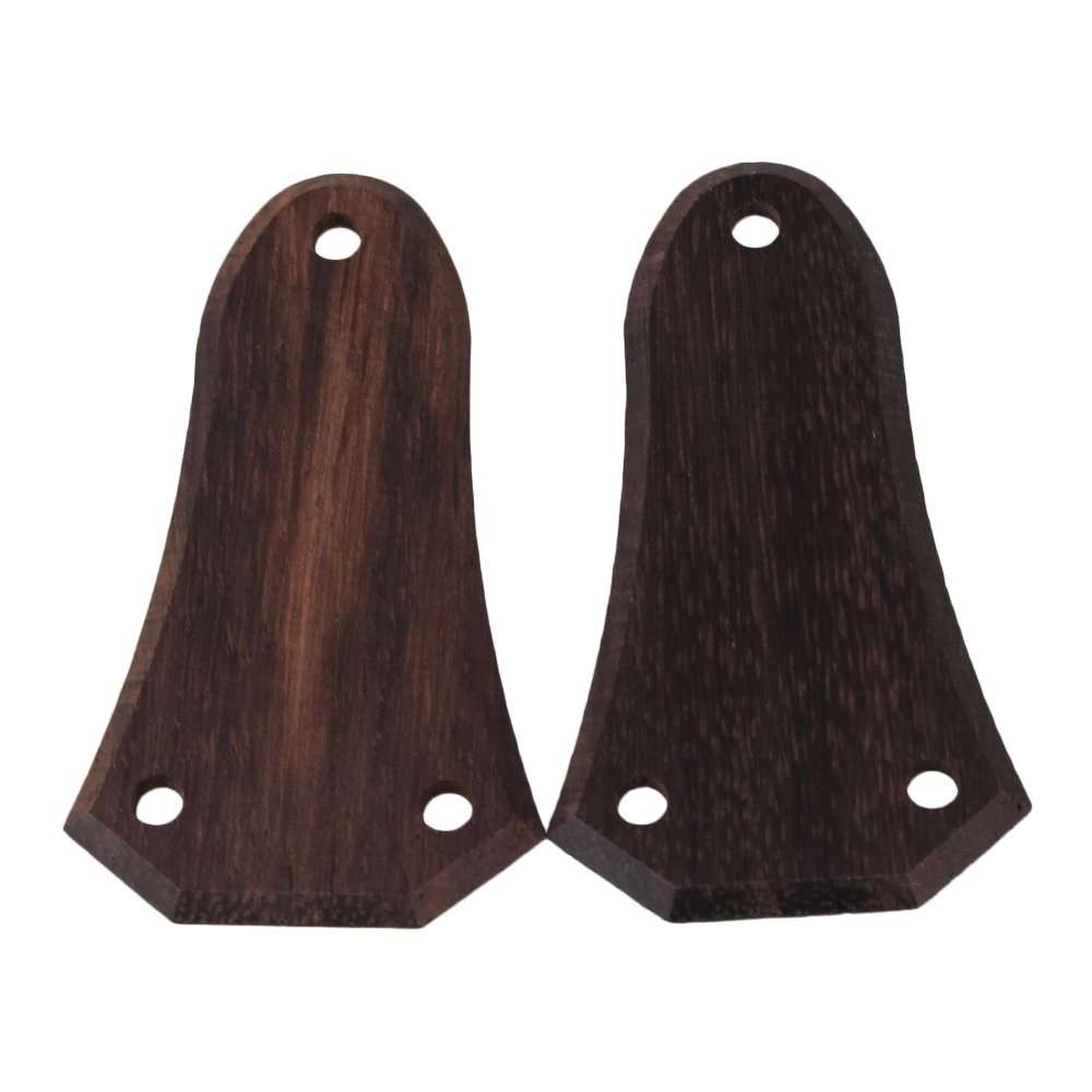 Yibuy Electric Guitar Truss Rod Cover Plate Rosewood Pack of 2