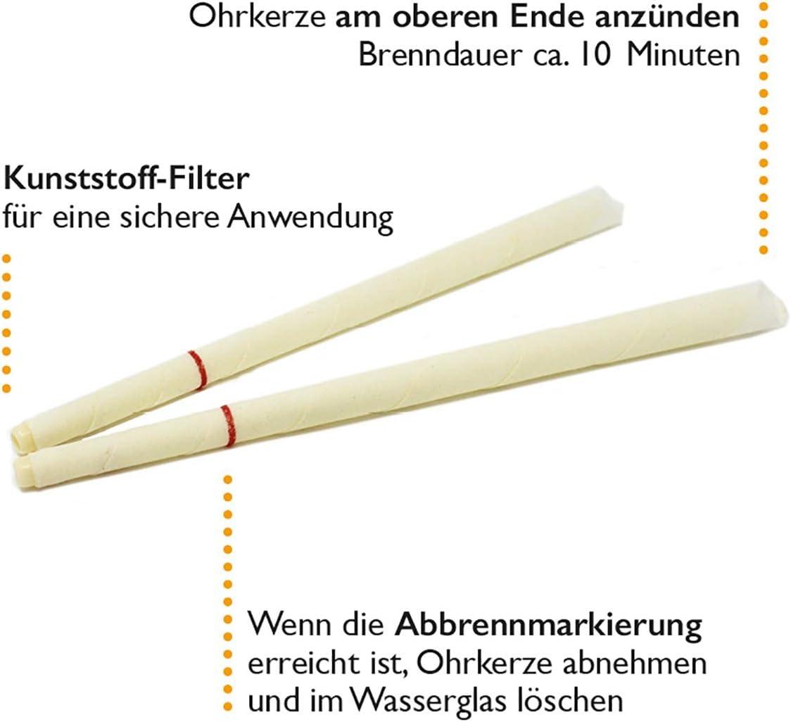 HOPISUN Lot de 10 bougies doreilles coniques avec filtre et protection anti-goutte