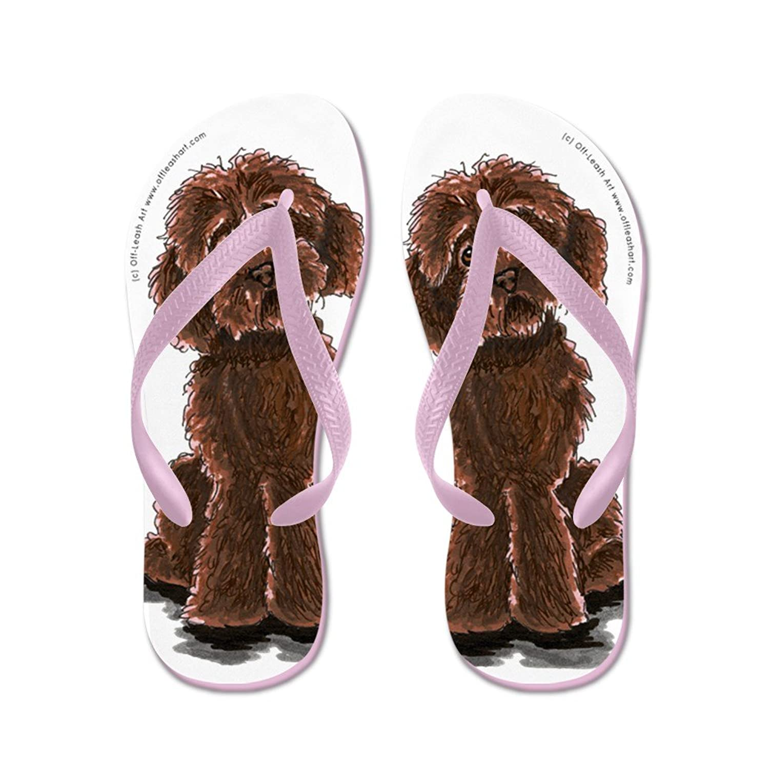 CafePress - Labradoodle Give Me Chocolate - Flip Flops, Funny Thong Sandals, Beach Sandals