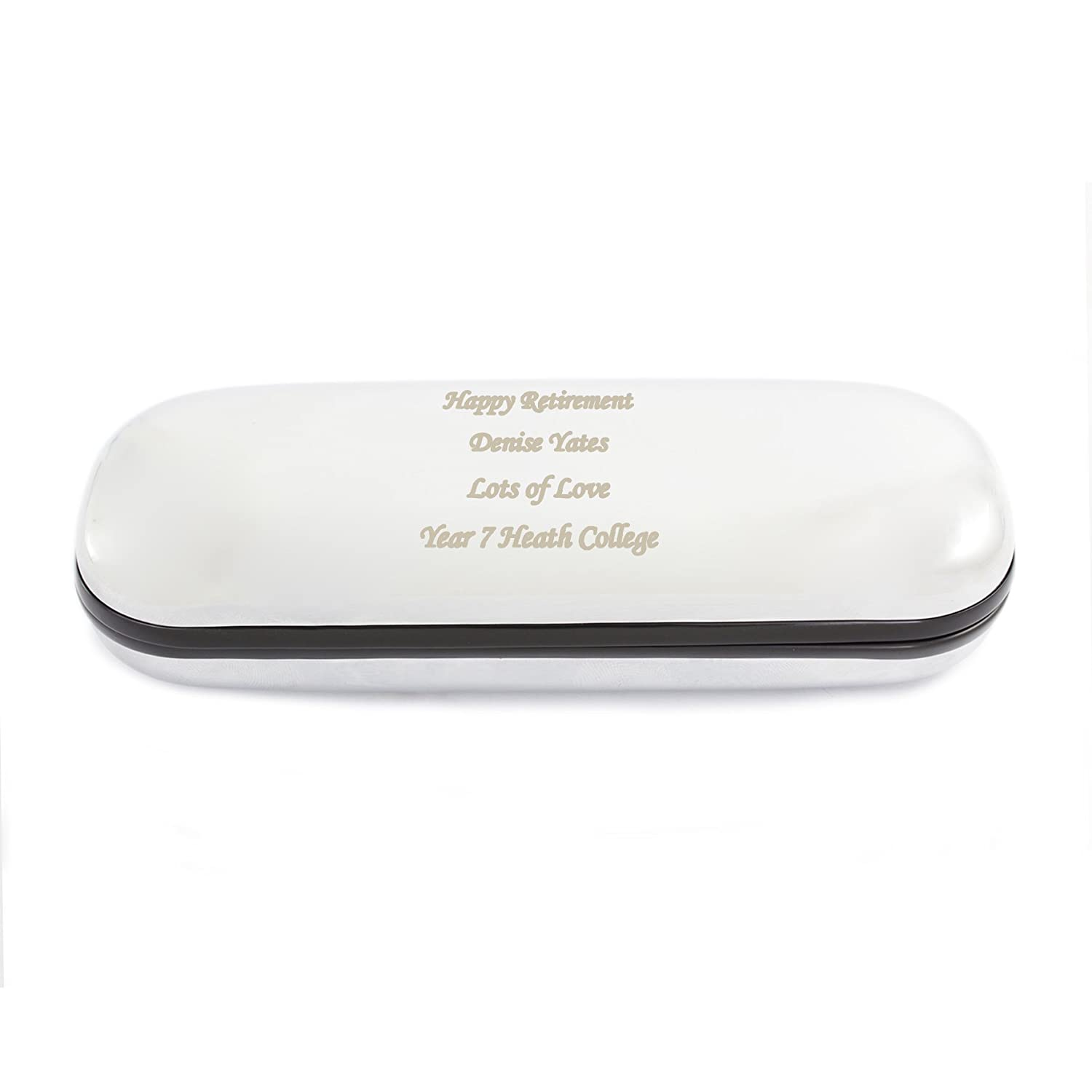 Chrome Finish Glasses Case Zaph Chancery -FREE ENGRAVING - Ideal for Christmas, Birthdays, Anniversaries