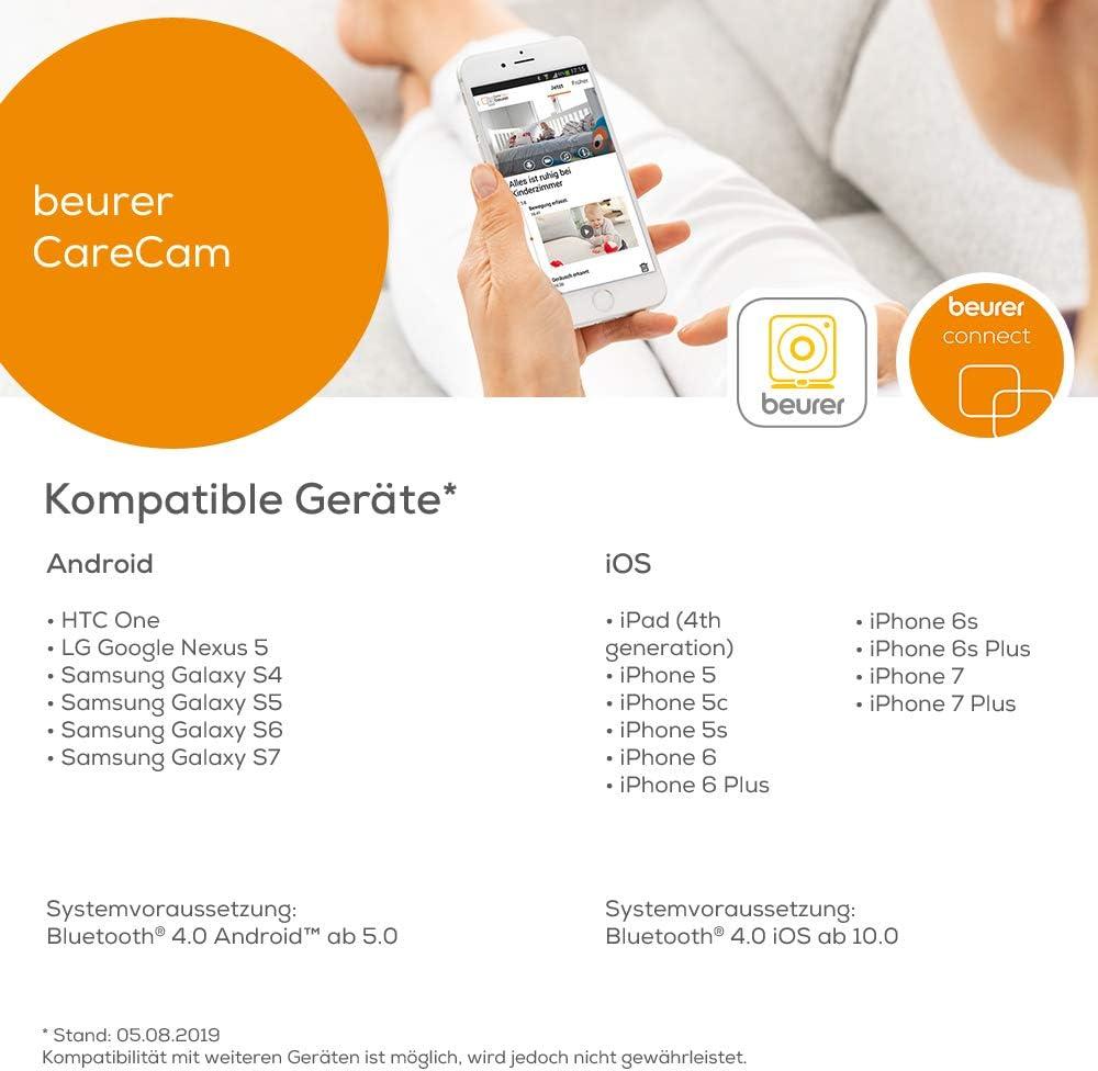 Beurer BY99 - Vigilabebés con monitor pantalla, compatible con App ...