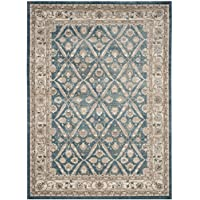 Safavieh Sofia Collection SOF378C Vintage Blue and Beige Distressed Area Rug (8 x 11)