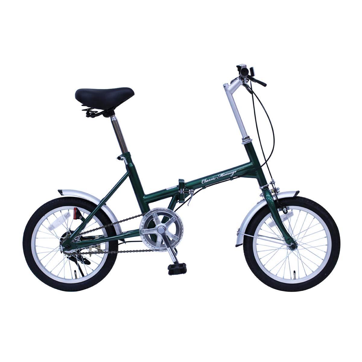 クラシックミムゴ 16インチ 折りたたみ自転車 グリーン Classic Mimugo FDB16G   B07QTG1H4C