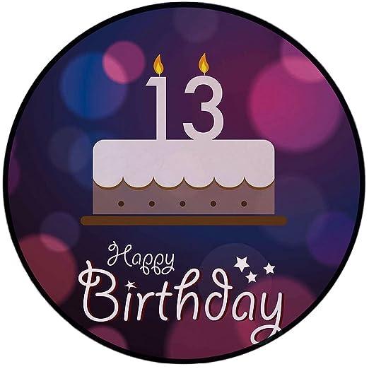 Alfombra redonda con estampado para 100 cumpleaños, diseño ...