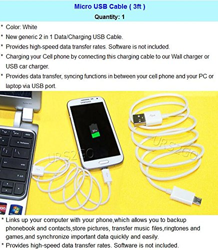 (Samsung Galaxy J3 Emerge Quick Charge) External Special Travel Dock Wall  Home Battery Charger + Micro USB Data Cable 3ft for Samsung Galaxy J3  Emerge