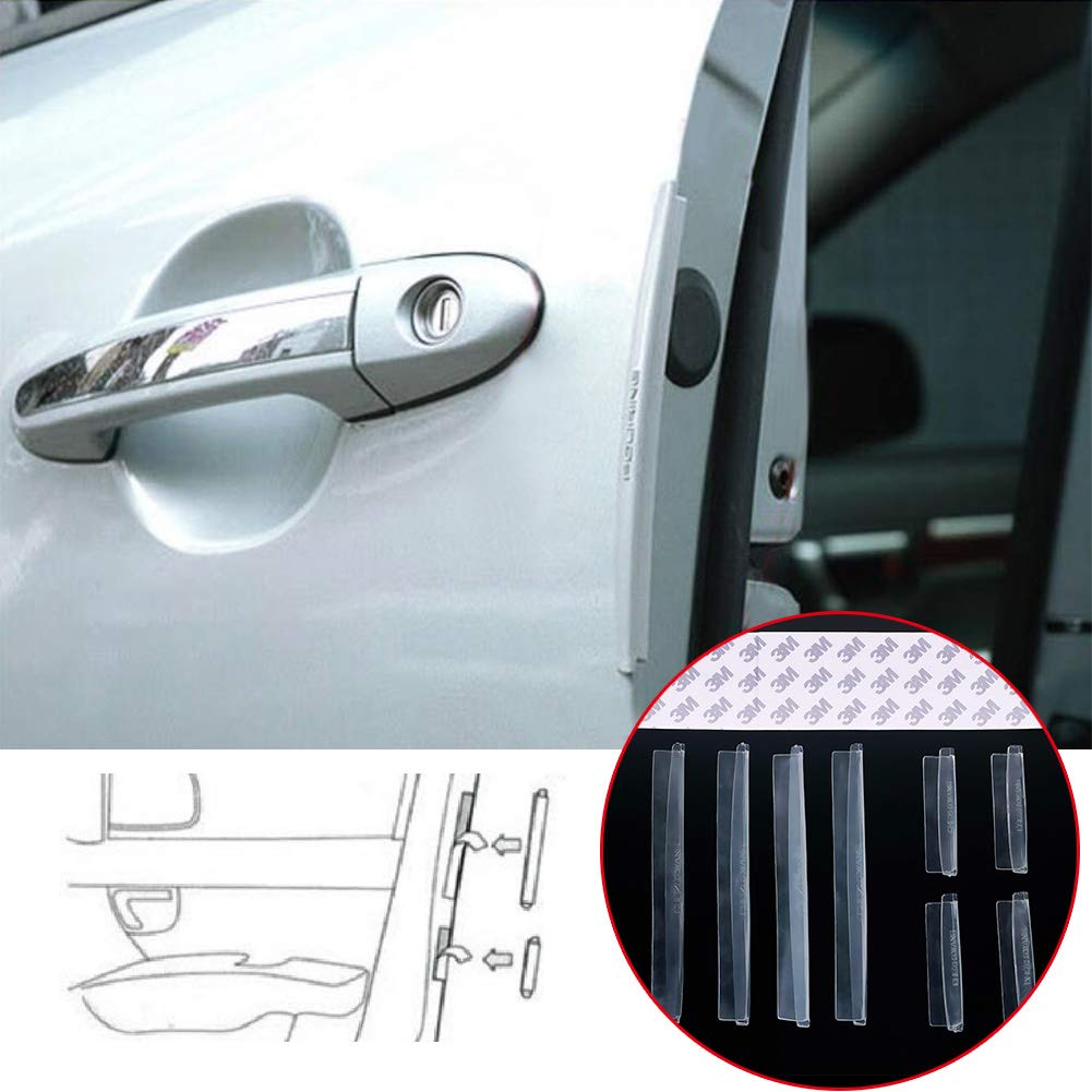 RUNMIND 8Pcs Car Door Protector Edge Guard Strip Scratch Anti-collision Trim Accessories Clear by RUNMIND (Image #3)