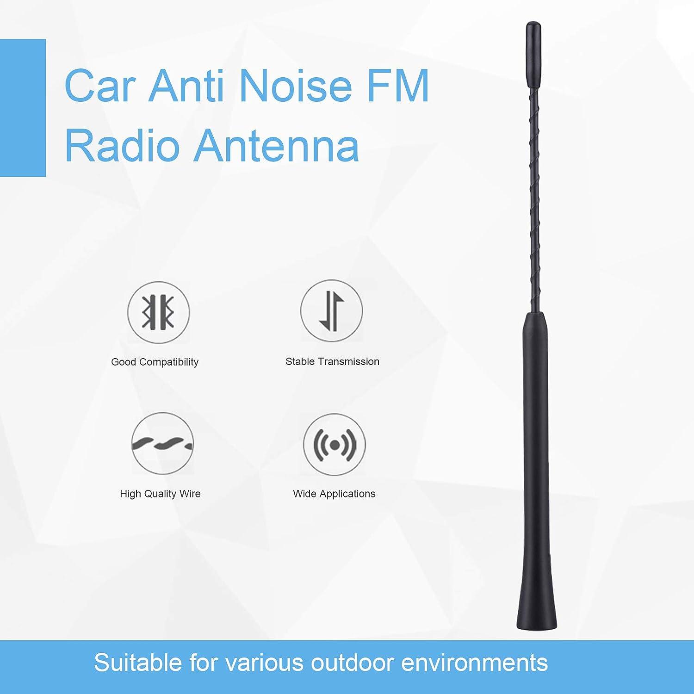 Antena de coche, antena de radio FM universal 9 pulgadas, con tres tornillos de diferentes medidas