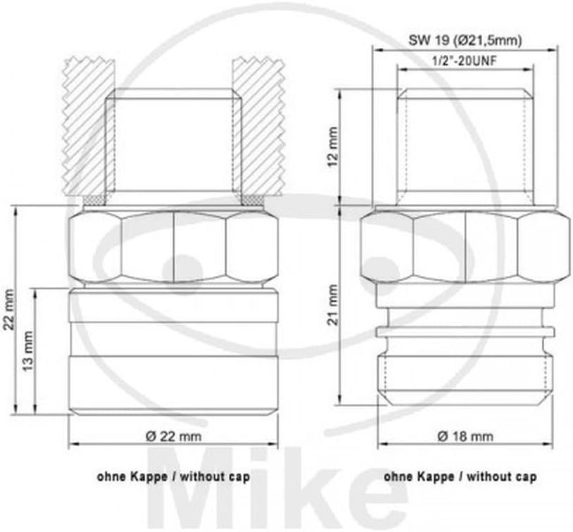Stahlbus Oil Drain Valve Plug M12x1.75x12mm steel M12 x 1.75 x 12mm