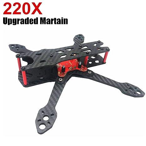 Amazon.com: Martain IV X220 220 Drone Frame(4MM Arms), FPV Racing ...