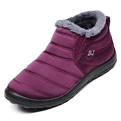 d3cd554b8d80 Image Unavailable. Image not available for. Color  Ginjang Women Winter  Snow Boots Warm Ankle Boots Anti-Slip Waterproof ...