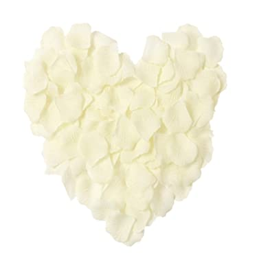 MXXGMYJ 2000pcs Ivory Rose Petals White Rose Wedding Bouquets Fake Rose Petals Dried Rose Wedding Bouquet Artificial Flowers Wedding Party Decoration Table Confetti