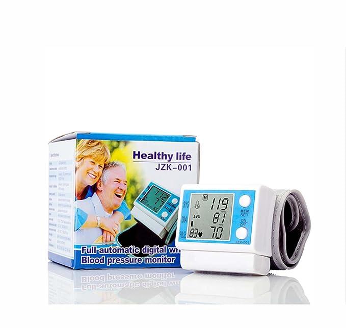 KZJBMP - Monitor de presión arterial digital de muñeca totalmente automático con detección de ritmo cardiaco, indicador IHB y memoria medida exacta, ...