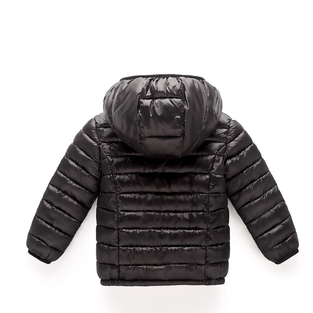 XILALU Baby Girl Boy Kids Light Down Jacket,Windproof Zipper Cable Hooded Coat Winter Warm Toddler Snowsuit(18M-8T)