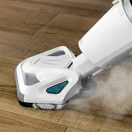 Cecotec Conga Steam&Clean 4 en 1 - Aspirador Vaporeta, Barre, Aspira, Pasa la Mopa y Friega con Vapor Sin Bolsas, Ciclónico Silencioso, Elimina el 995% Bacterias, Filtro HEPA, Potencia 1550W, <80 dB: Amazon.es: Hogar