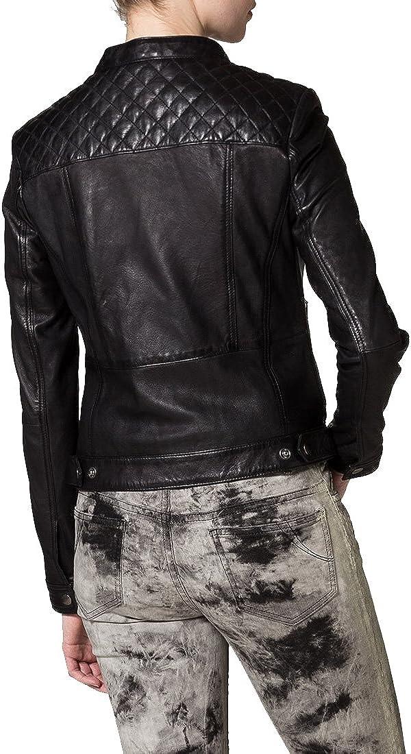 Brand New Genuine Soft Lambskin Leather Jacket For Womens Designer Wear XW034