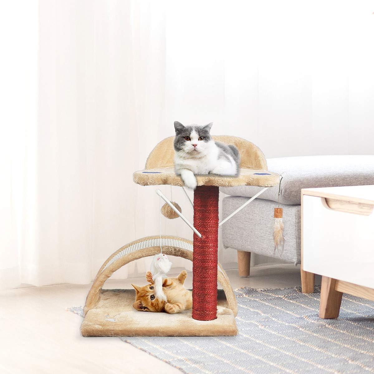 JR Knight - Poste para gatos, beige, 53cm(H): Amazon.es: Hogar
