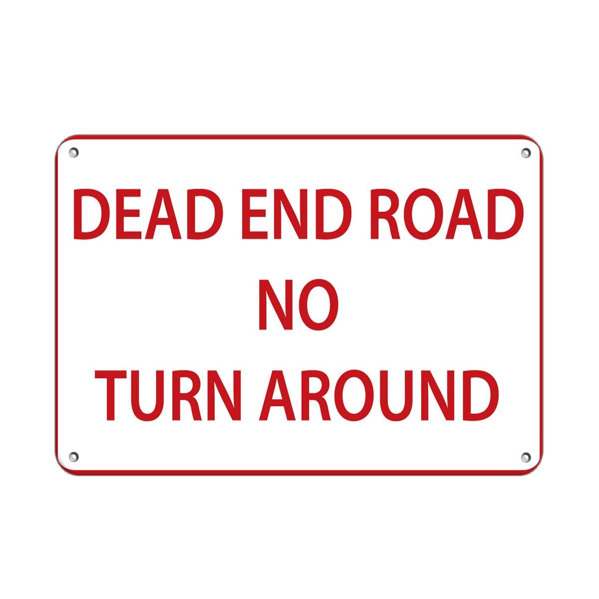 Amazon.com: Dead End Road no vuelta señal de tráfico ...