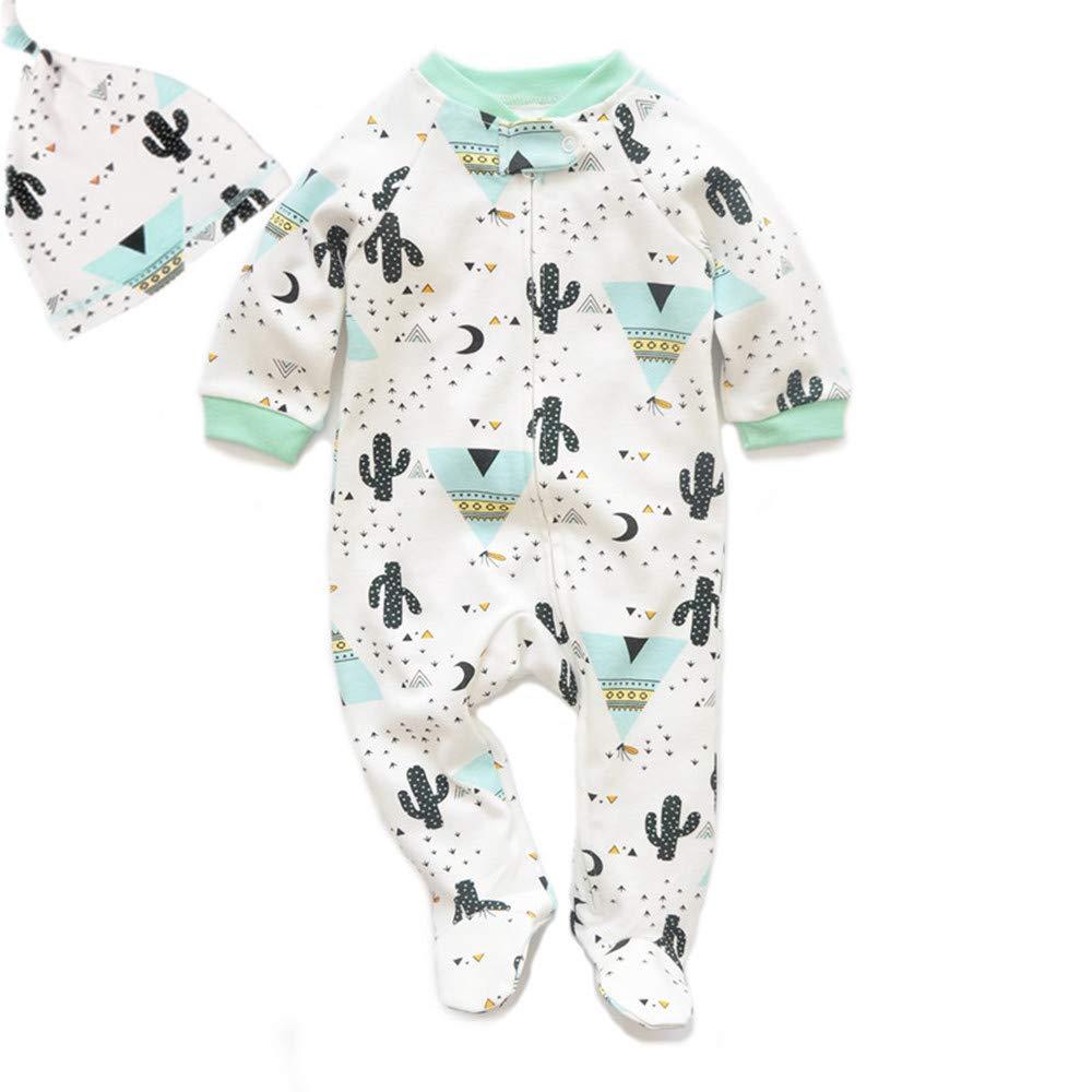 Bebé Mameluco de Algodón para Onesies Pijamas Traje con Sombrero Ropa Niño Niña product image