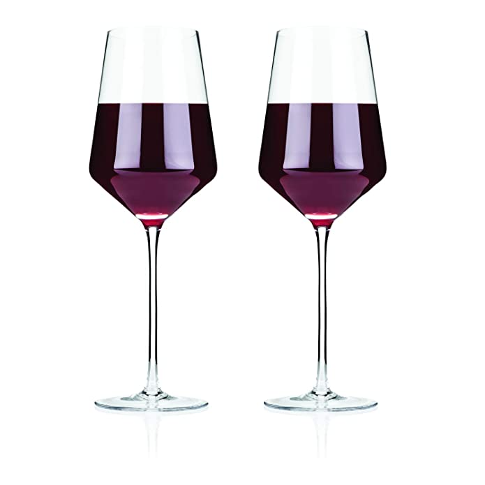 Raye Crystal Bordeaux Glasses (Set of 2) by Viski