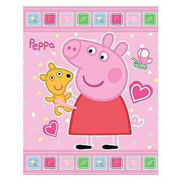 Coperta Peppa Pig.Coperta Plaid In Pile Peppa Pig