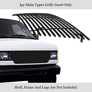 Amazon Com Aps Compatible With 1992 2007 Econoline Van Main Upper Stainless Steel Black Billet Grille Insert F85020j Automotive
